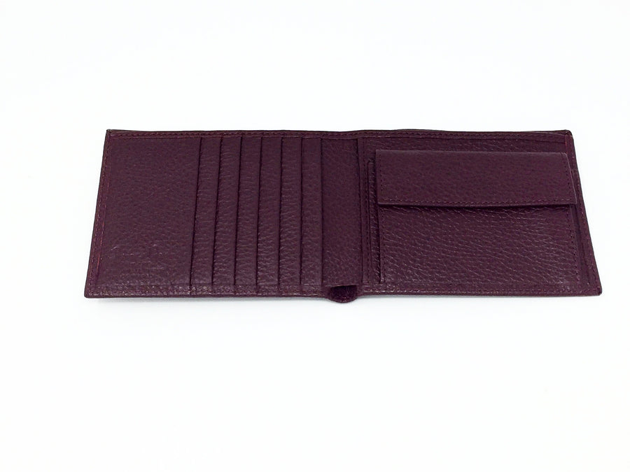 Giemme Box - handmade leather man's wallet - burgundy