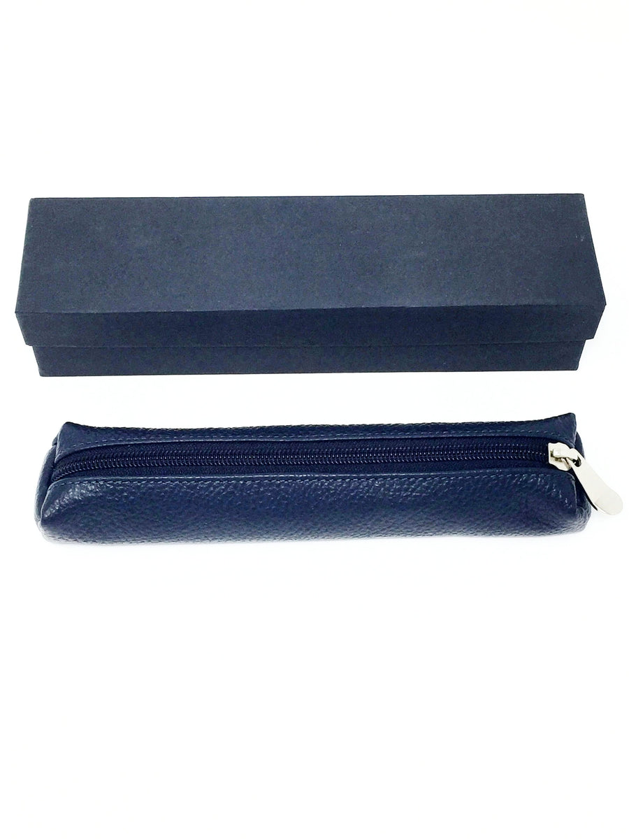 Itakian hand made leather pen pencil case