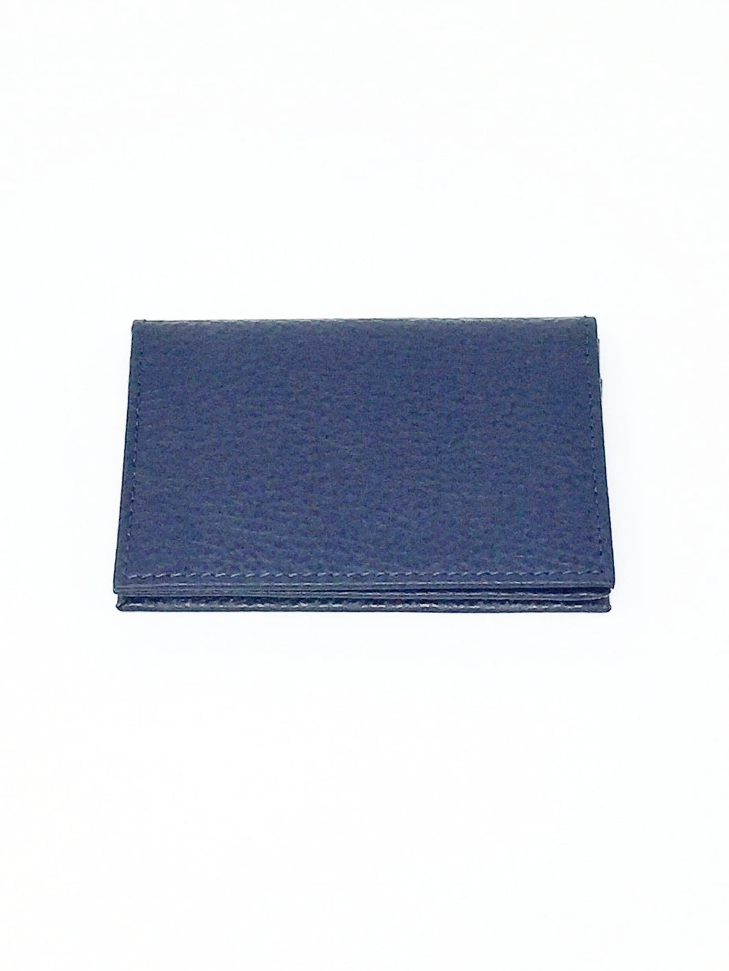 Italian hand made blue leather card holder