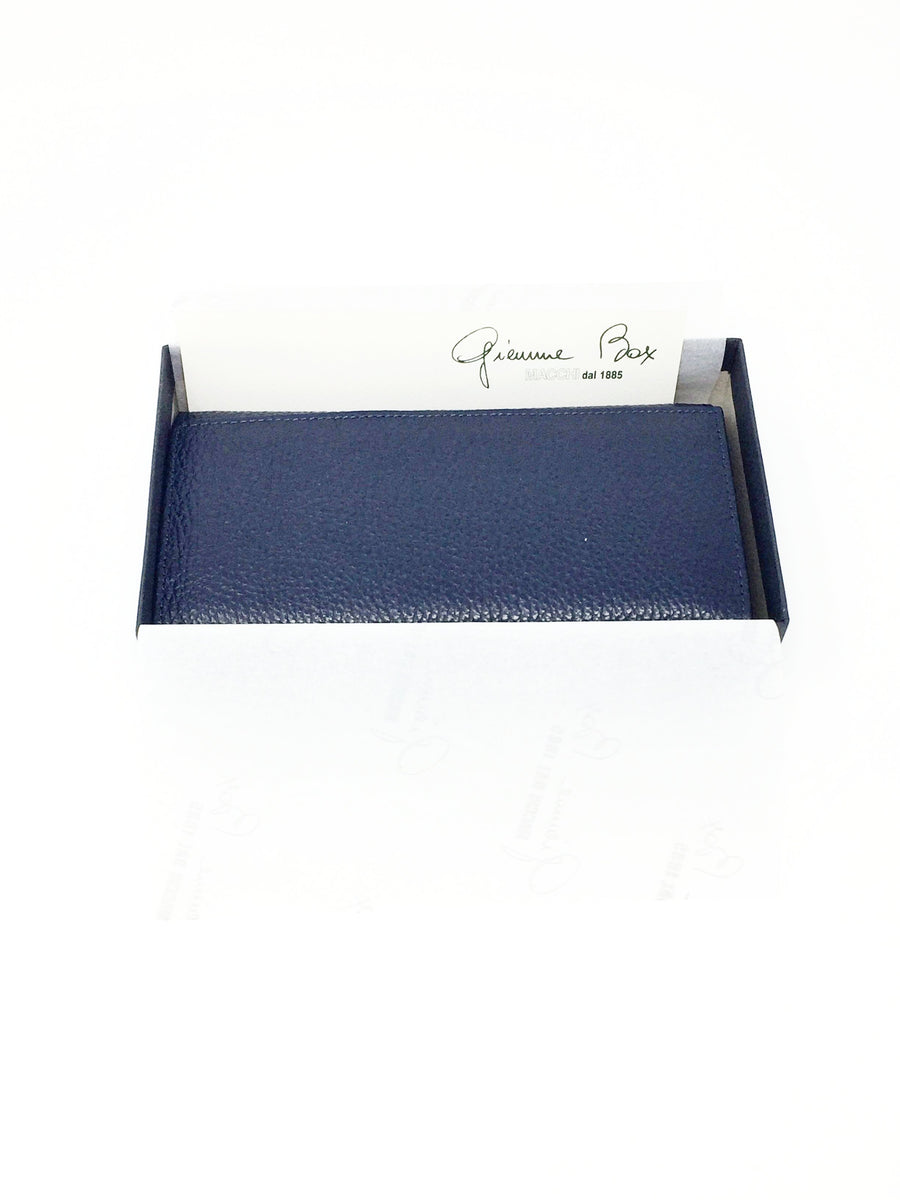 Giemme Box - handmade leather purse - navy