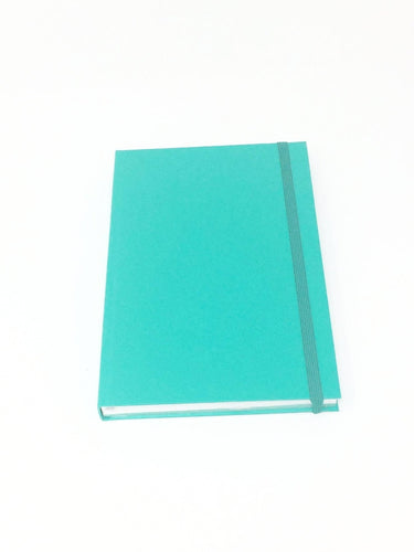 Giemme Box notebook. Lined pages - tiffany with silver border