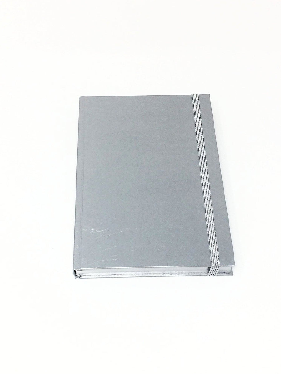 Giemme Box notebook - silver. Lined pages with silver border