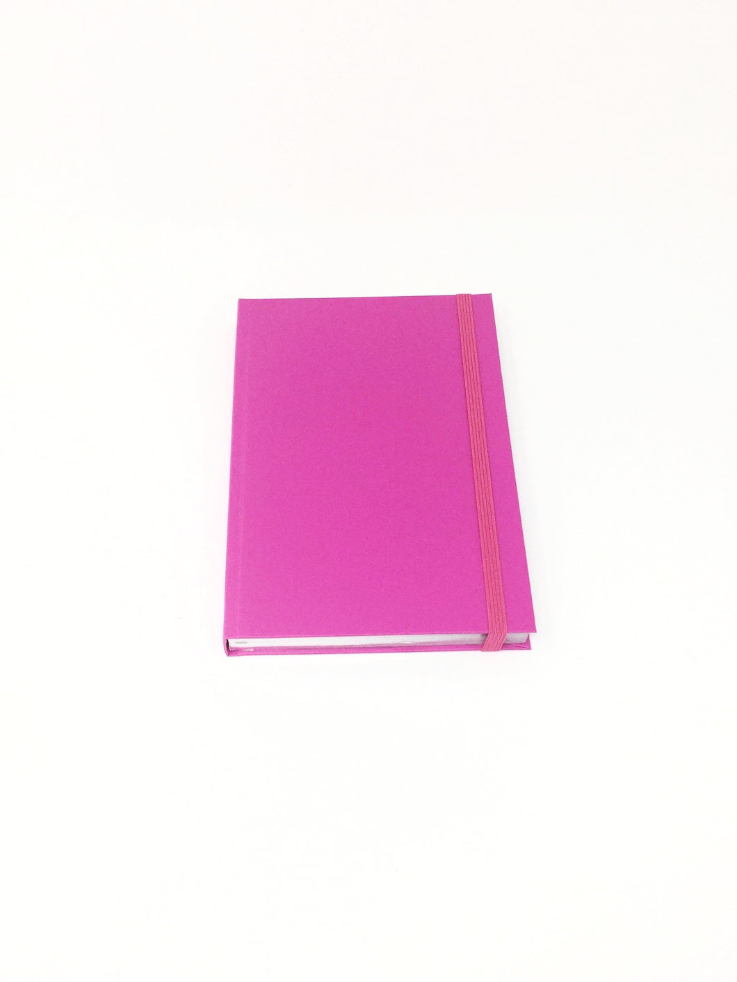 Giemme Box notebook - fuschia pink. Lined pages with silver border