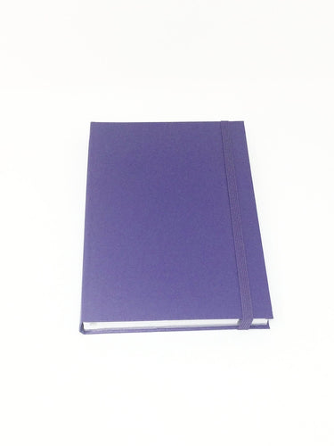 Giemme Box notebook - purple. Lined pages with silver border soft cover