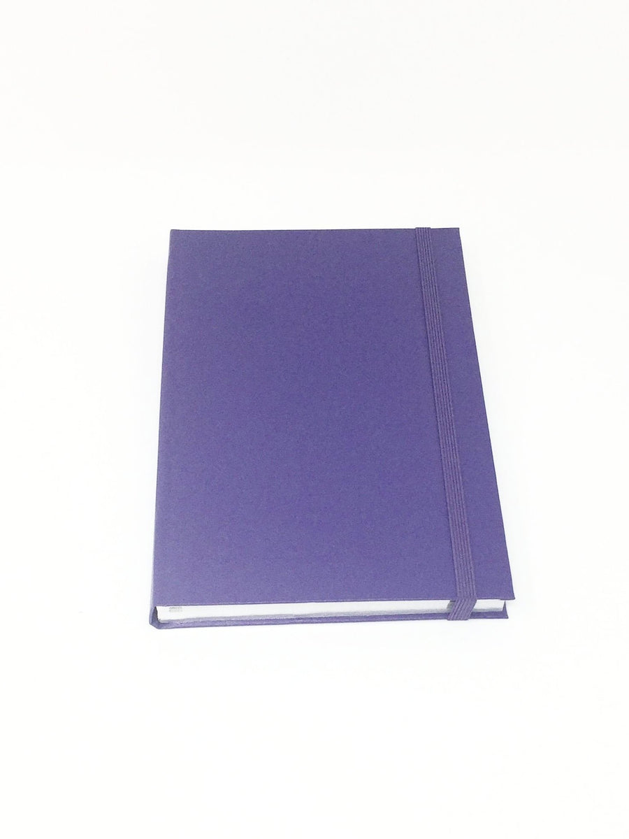 Giemme Box large notebook - purple. Lined pages with silver border soft cover
