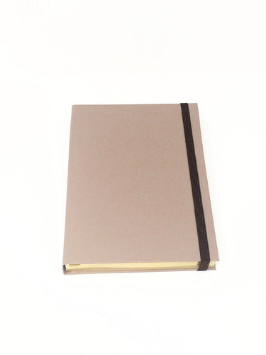 Giemme Box notebook - nut.  Blank pages with gold border