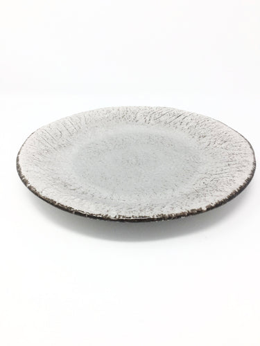 italian hand made dinner plate in grey