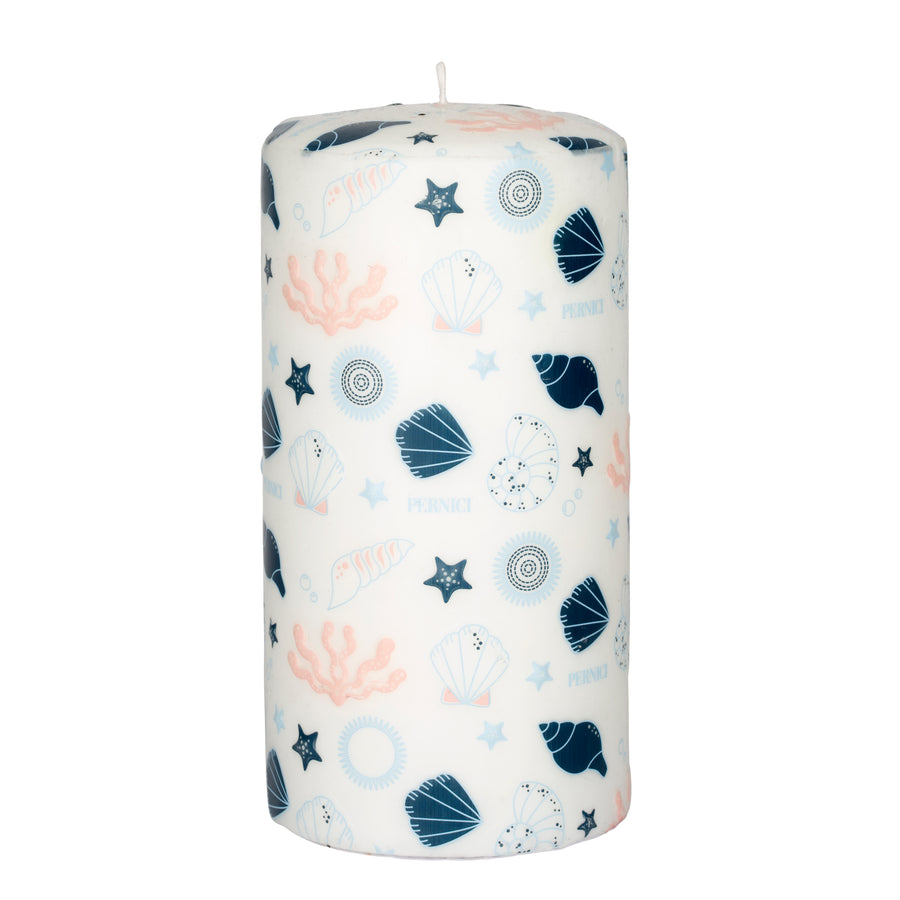 Pernici Candle - Sea Treasures Pink/Light Blue/Blue 20 x 10 cm