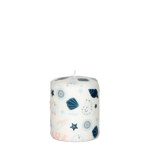 Pernici Candle - Sea Treasures Pink/Light Blue/Blue 10 x 8 cm