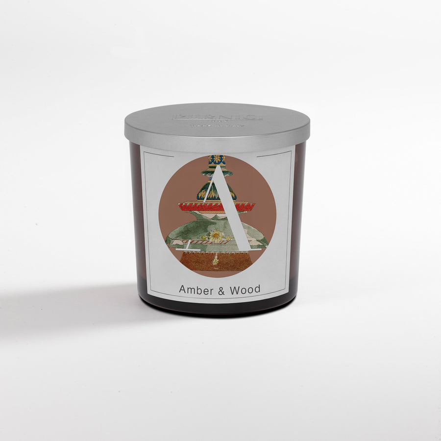 Pernici Elementi Candle - Scented Candle - Amber & Wood 200 gram or 350 gram