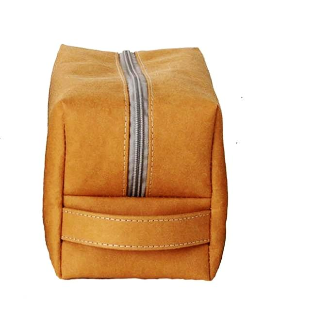 Dafne Pascolini Recycled Cellulose Fibre Beauty Bag / Pencil case / Clutch bag - Havana