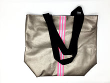 Italian hand made bronze and pink shopping bag