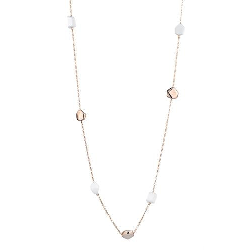 MARCELLO PANE - Long Pebble White Necklace