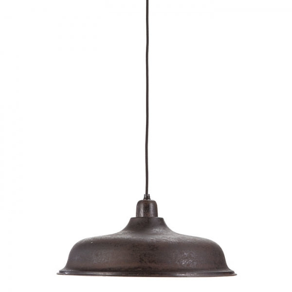 Fiorira un Giardino Ceiling Light - Metallo Scuro e Interno Avorio (Dark Metal & Ivory) D40CM