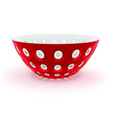 Guzzini Bowl Le Murrine Red / White
