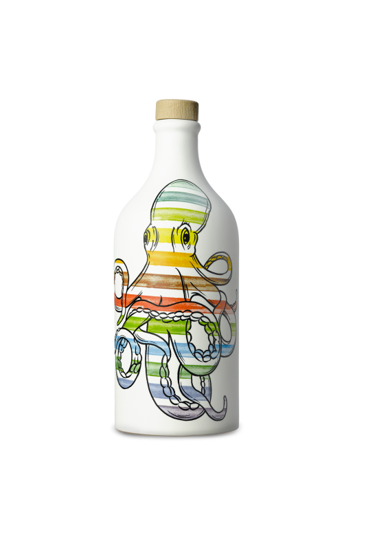 Muraglia Extra Virgin Olive Oil 'Octopus' terracotta jar 500ml