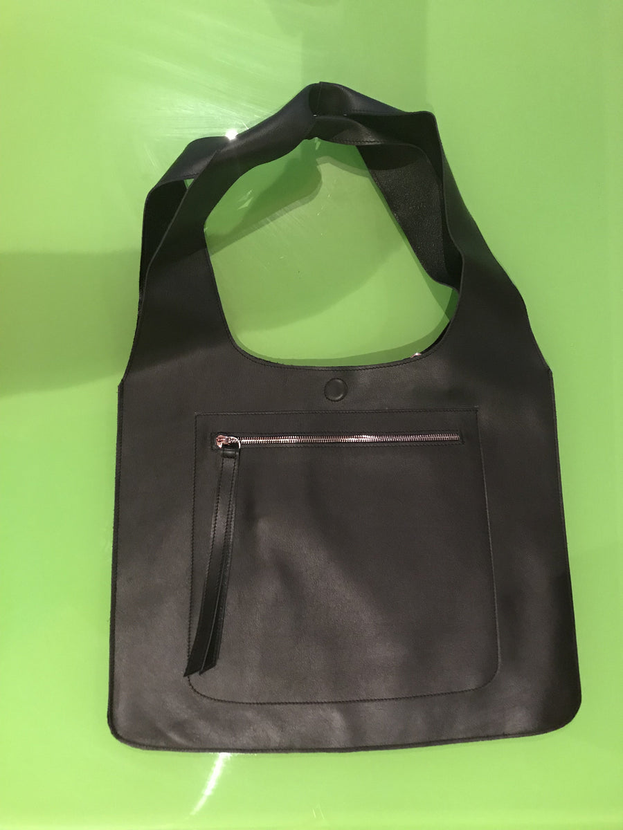 PAS VÙ  Black Leather Bag - Chatelet H58cm x W42cm