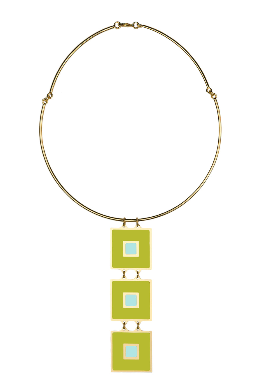 FRANCESCA  BIANCHI-  Necklace- Green Azure