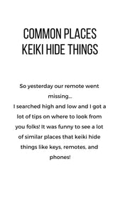 Common Places Keiki Hide Things