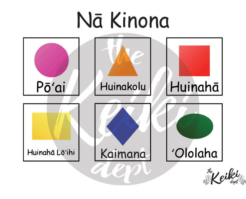Free Nā Kinona (Shapes) Printable