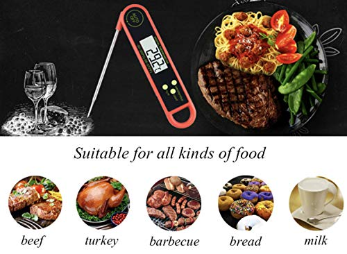 Latest Cooking Thermometers Digital ByChefCD, Stainless Cooking Thermometer with Instant Read, Long Probe, LCD Screen, Anti-Corrosion, Meat, Grill, BBQ, Milk, and Bath Water - ByChefCd Cooking products seller from Orlando, FL