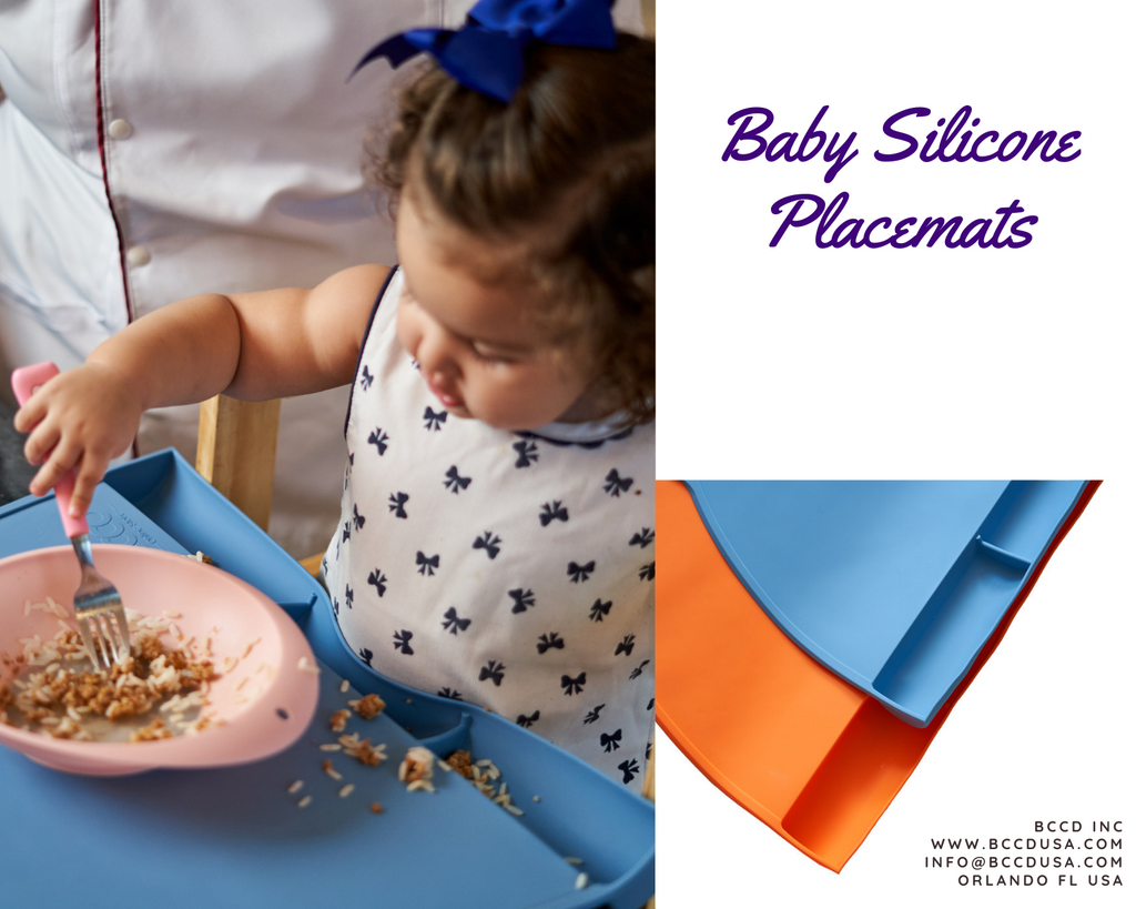 Silicone Food Catching Baby Placemat with Suction for Kids, Babies and Toddlers