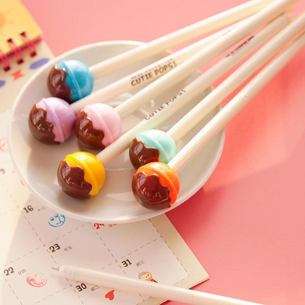 ♥ Lollipops with Chocolate Topping Gel Pen ♥