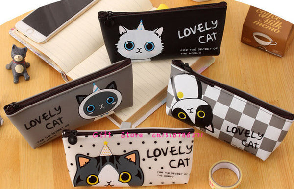 ♥ Lovely Cat Silicone Pencil Pouch ♥