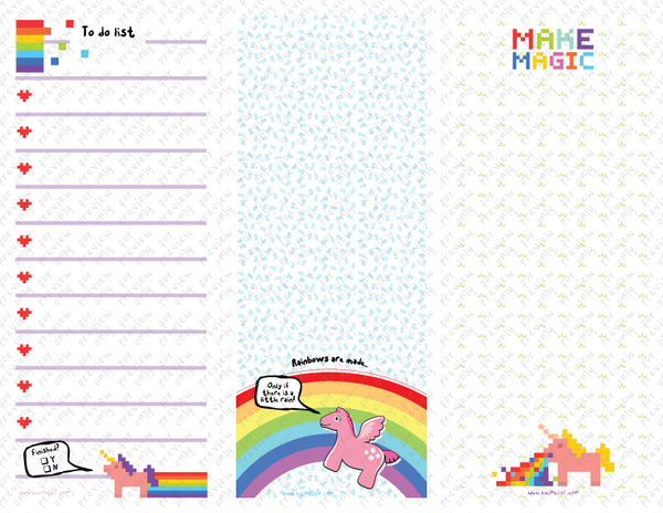 Notepads - Unicorn Fever - 3 in 1