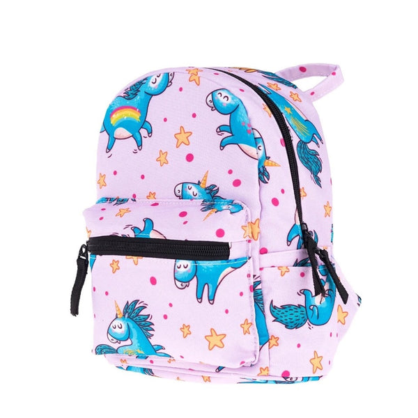 ♥ Fat Lil' Blue Unicorn Small Backpack ♥