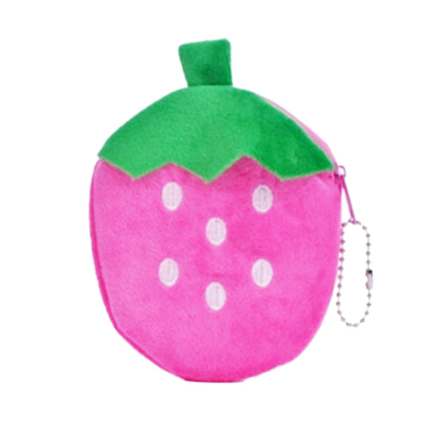 ♥ Strawberry Plush Coin Pouch ♥