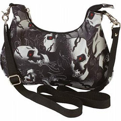 "12"" Ladies Skull Convertible Purse"