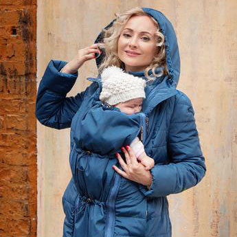 4-in-1 Babywearing Winter Coat (Mare Small - chest 34-35