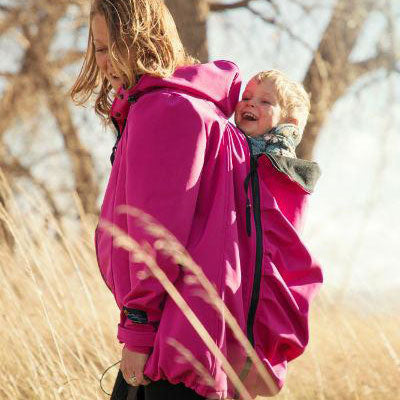 4-in-1 Babywearing Jacket (Pink/blue Large - US 12-14)