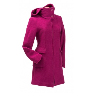 Hooded Babywearing Wool Coat