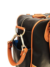 Coco & Kiwi Provence Bag (Ebony - black with cobalt lining)