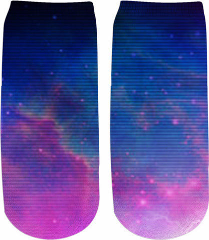 Electric Universe Sky Ankle Socks