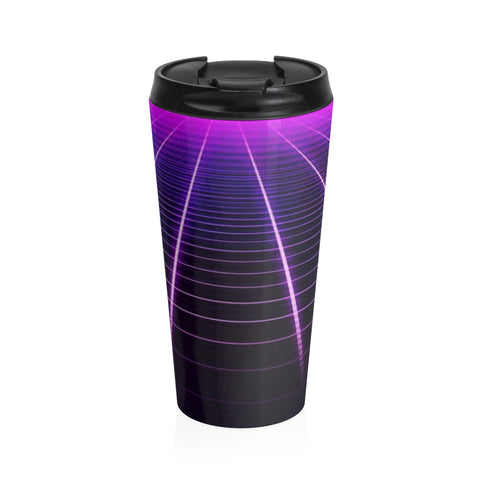 Electric Universe Grid Stainless Steel Travel Mug