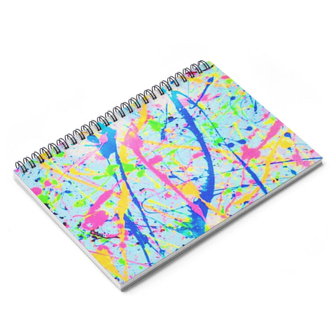 Paint Splatter Spiral Notebook
