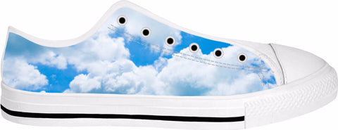 Heaven Is A Place On Earth Low Top White Sneakers