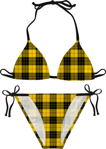 Yellow Plaid Bikini