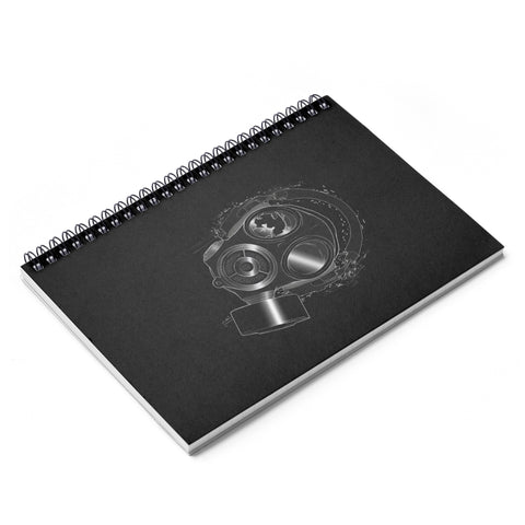 Meth Lab Studio Gas Mask Spiral Notebook