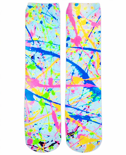 Paint Splatter Crew Socks