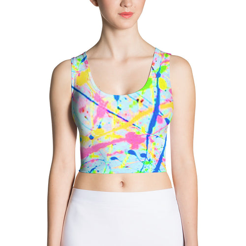 Paint Splatter Fitted Crop Top