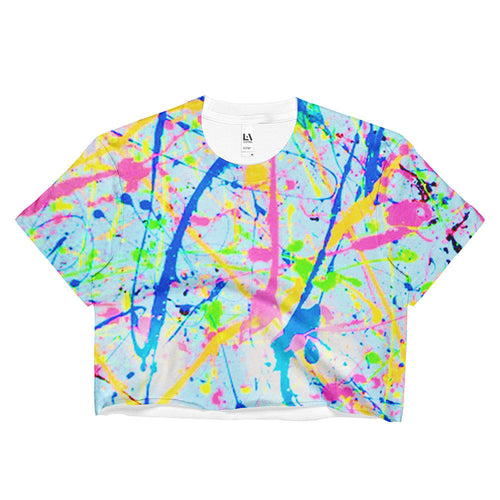 Paint Splatter Crop Top
