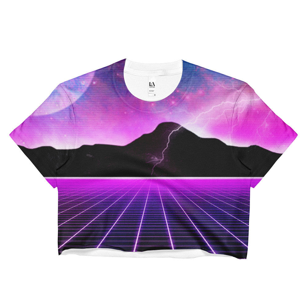 Electric Universe Crop Top