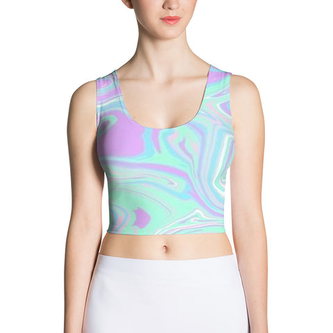 Groove is in the Heart Fitted Crop Tank Top