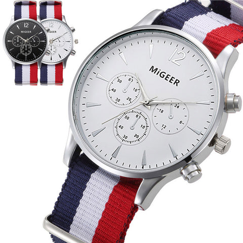 Migger Analog Quartz Strap Watch 3 Color Band
