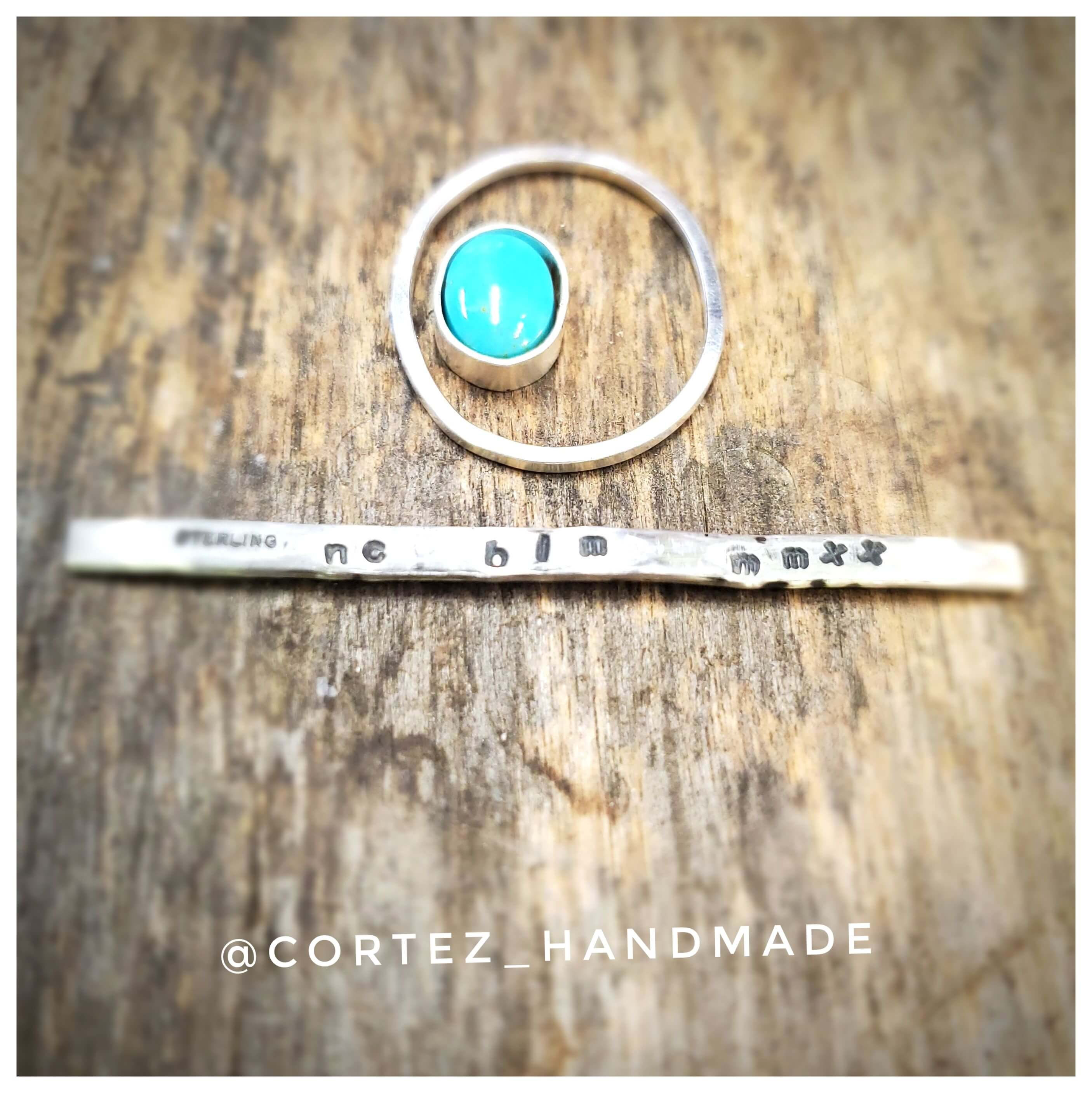 Liberty Ring Sterling Silver with King's Manassa Turquoise