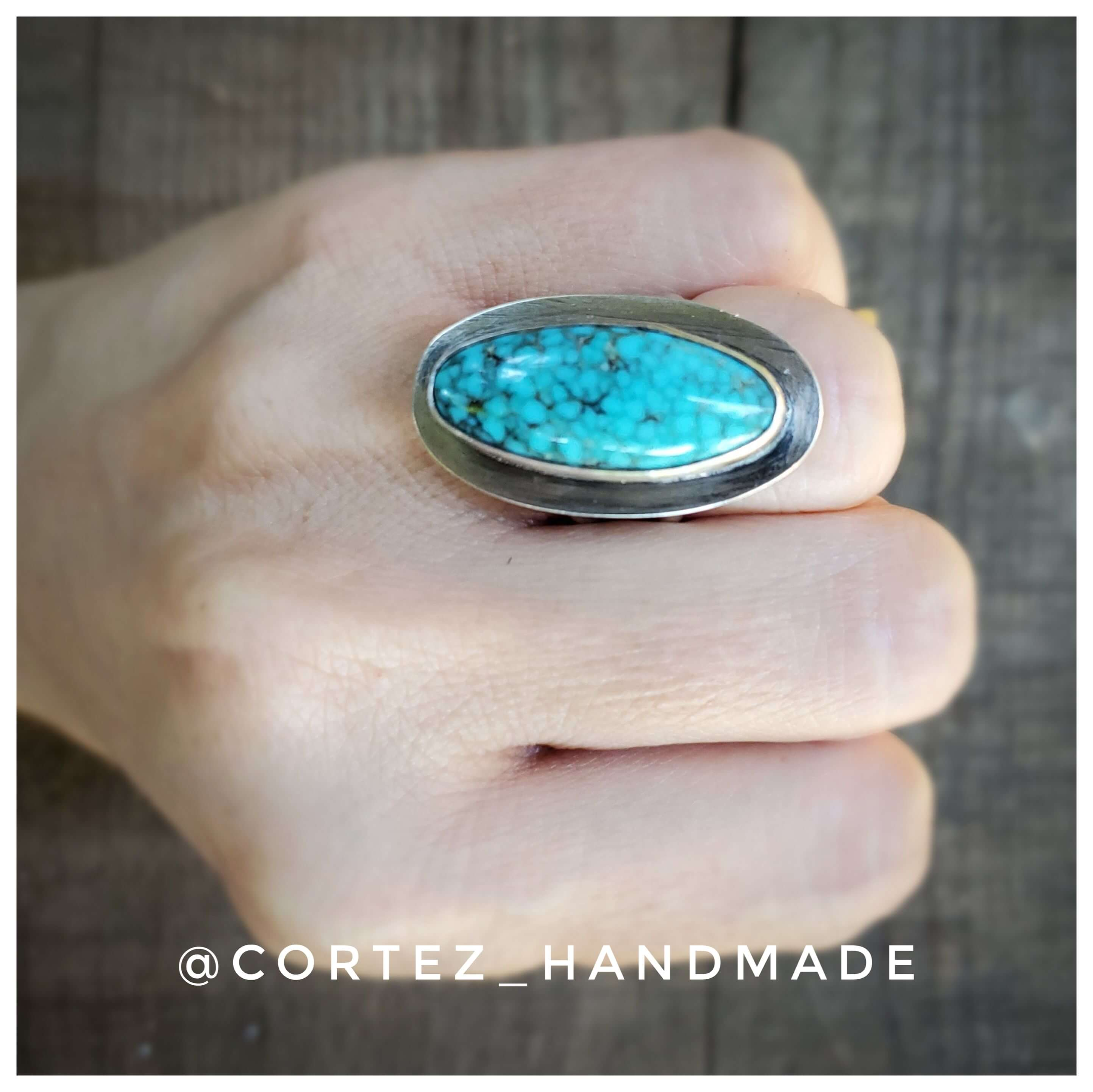 Magical Blue Micro Web Turquoise Ring size 7.25